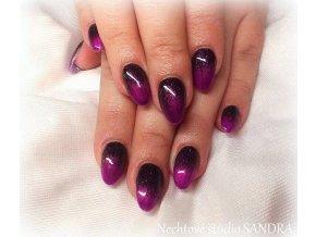 4140 Black Lilla, barevný glitrový efektový barevný gel