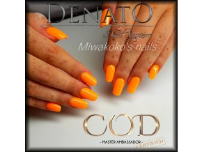 5710 Hybrid Gelpolish neon orange oranžový uv led gel, 15 ml