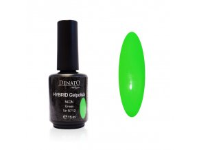 5712 Hybrid Gelpolish neon green zelený uv led gel, 15 ml