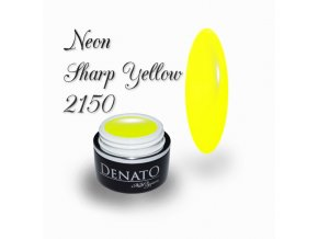 2150 Neon Sharp Yellow barevný uv led gel neonová žlutá