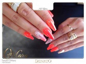 2171 NEON Sharp Flamingo, neonový oranžový barevný uv led gel