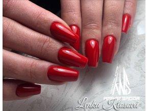 2075 Ferrari Red, barevný UV LED gel, červený