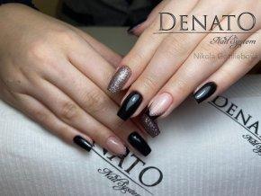 4040 Fantastic, glitrový barevný uv led gel hnědý