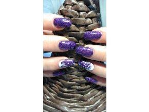 4041 Mascarde, glitrový barevný uv led gel fialový