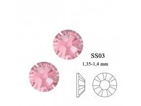 9003 Swarovski light rosé SS03