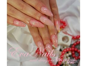 4024 Romance, glitrový barevný uv led gel růžový