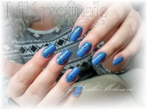 2051 Denim, barevný UV LED Gel modrý