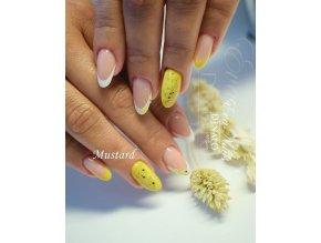 2013 Mustard barevný uv led gel hořčicová žlutá
