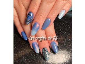 2055 Airy Blue, barevný UV LED gel, modrý
