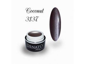 3137 Coconut perleťový barevný uv led gel hnědý