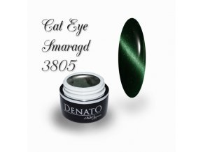 3805 CAT EYE smaragd barevný uv led gel zelený