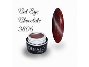 3806 CAT EYE chocolate barevný uv led gel hnědočervený