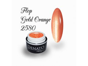 2580 Flop Gold Orange barevný efektový uv led gel