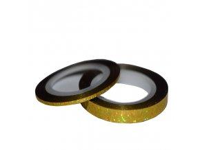 pásky zlaté holografické
