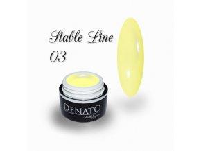 3602 STABLE Line 03 barevný bezvýpotkový uv led gel žlutý