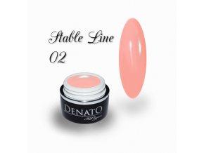 3601 STABLE Line 02 barevný bezvýpotkový uv led gel meruňkový
