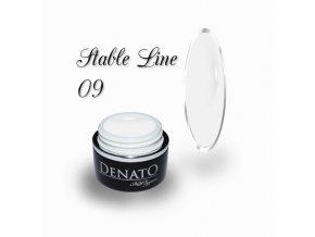3608 STABLE Line 09 barevný bezvýpotkový uv led gel bílý