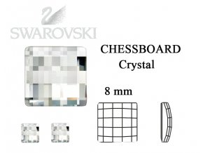 chessboard crystal 8 mm