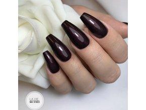 4143 Black Bordo, barevný glitrový efektový barevný gel