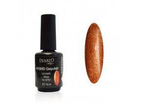 5757 Hybrid Gelpolish caramel gliter teracotový uv led gel, 15 ml