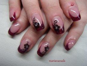4020 Rosa Magic, glitrový barevný uv led gel růžový