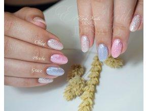 3024 Phoebe berevný uv led gel glitrový růžový