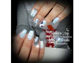 3085 Grace barevný uv led gel modrý glitrový