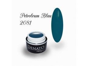 2081 Petroleum Blue, barevný UV LED gel, petrolejová modrá