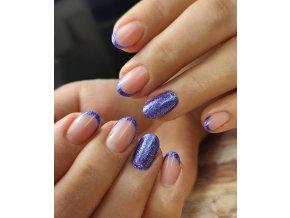 4303 Celine barevný uv led gel fialový glitrový