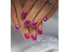 5306 Laura BAREVNÝ UV LED GEL perleťový fialovo růžový