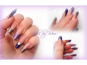 3045 Satin Lilla, perleťový barevný uv led gel fialový