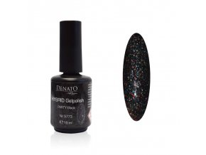 5773 Hybrid Gelpolish PARTY Black černý uv led glitrový gel, 15 ml