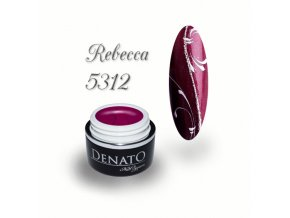 5312 Rebecca barevný uv led gel vínový