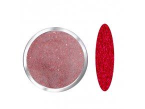 1707 RED diamond barevný polymer červený glitrový