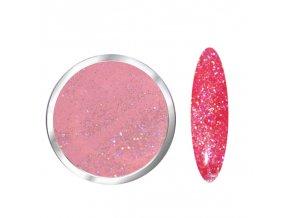 1708 Mauve Diamond barevný glitrový polymer růžový