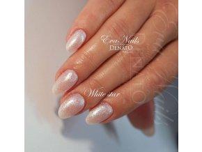 5002 White Star perleťový bílý uv led gel
