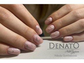4314 Celebrity barevný uv led gel glitrový stříbrný