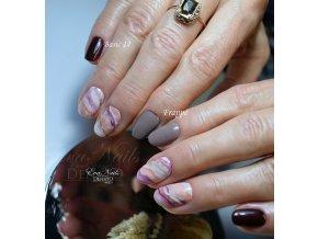 2105 Frappé barevný UV LEd gel hnědý