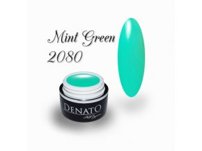 2080 Mint Green barevný uv led gel zelený