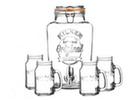 Sklenice, láhve a džbány