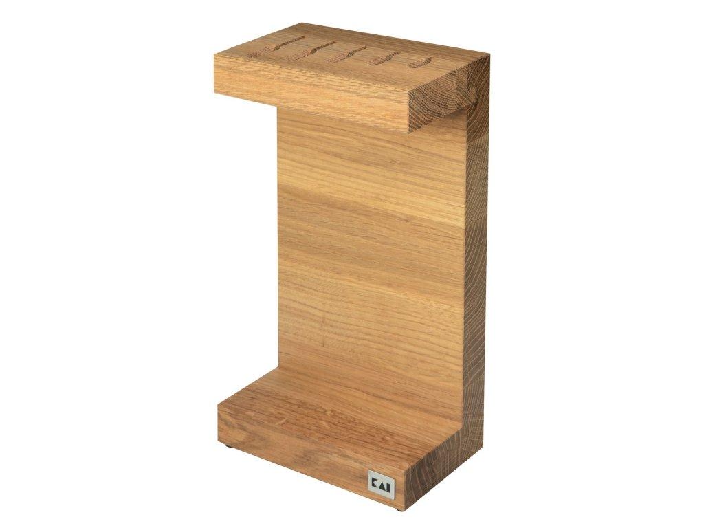 Blok na nože na 5 ks, dub, Kai