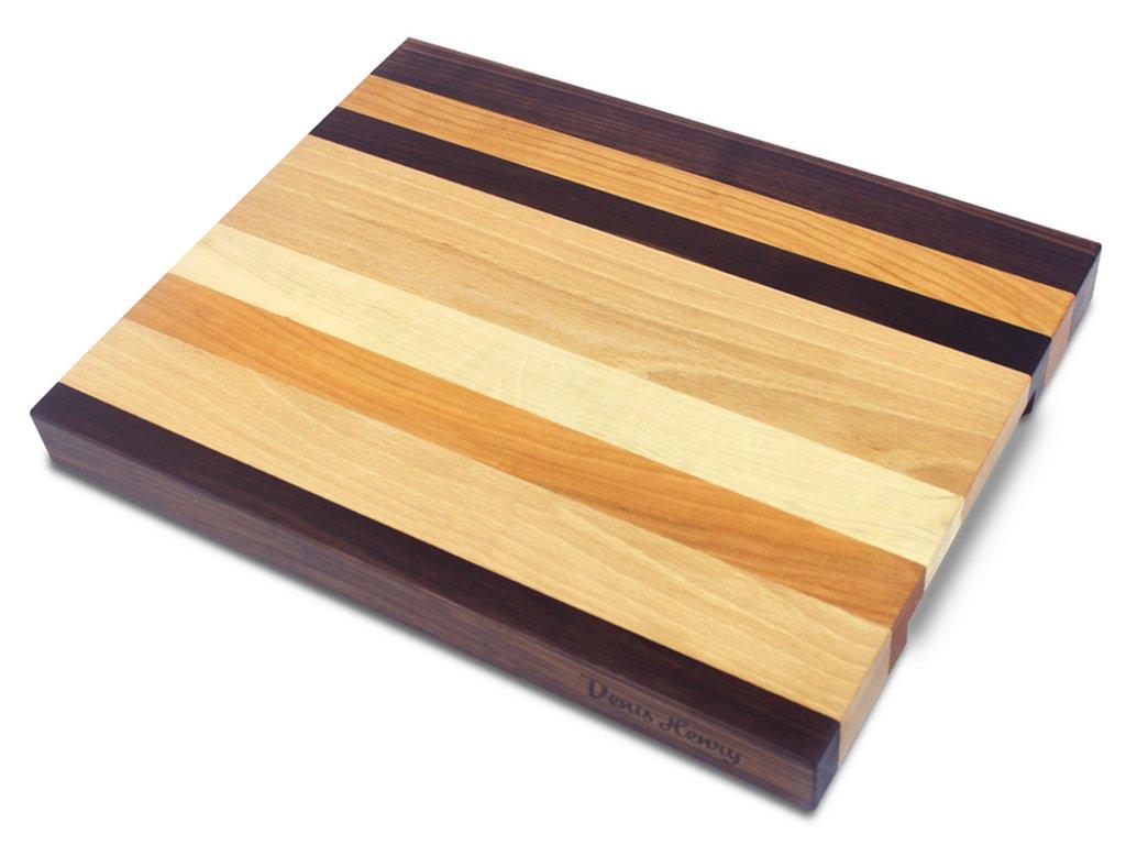 Dřevěné prkénko barevné 43 x 34 x 4 cm