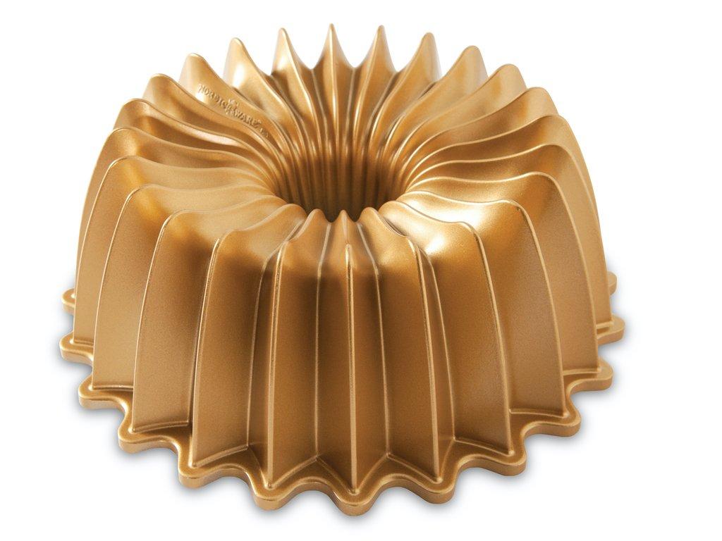 Forma na bábovku Brilliance 2,4 l zlatá, Nordic Ware