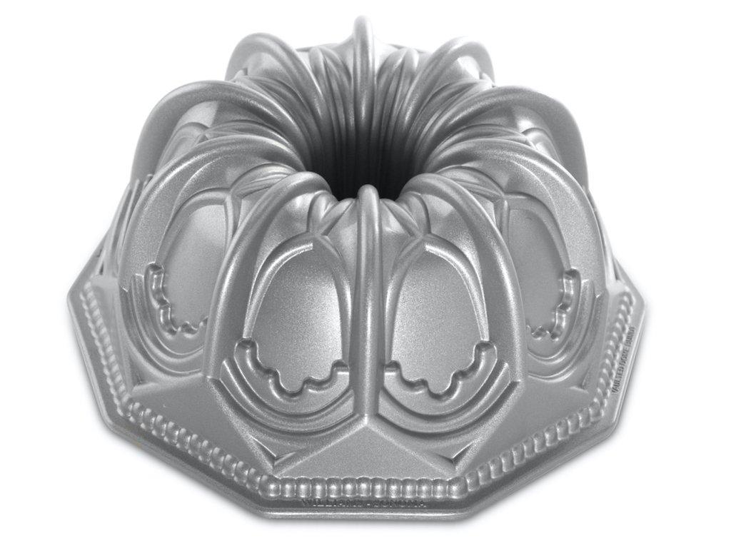 Forma na Bábovku Katedrála 2,1 l stříbrna, Nordic Ware