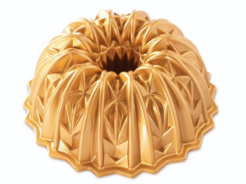 Forma na bábovku Crystal 2,4 l zlatá, Nordic Ware