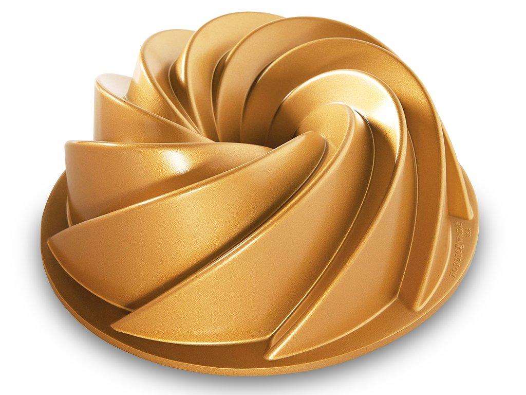 Forma na bábovku Heritage 2,4 l zlatá ,Nordic Ware