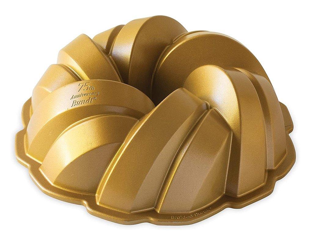 Forma na bábovku Anniversary propletná 2,8 l zlatá ,Nordic Ware
