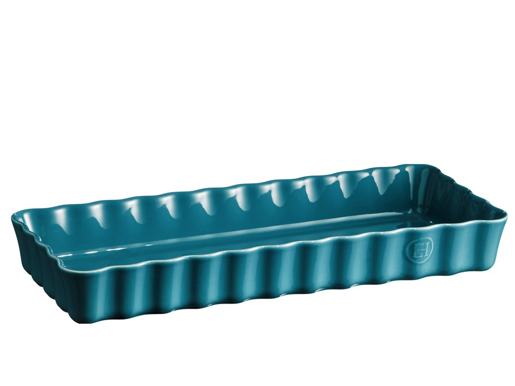 Hranatá koláčová forma 36 x 15 cm modra calanque, Emile Henry