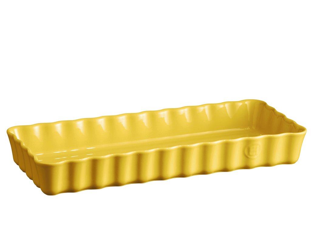 Hranatá koláčová forma 36 x 15 cm zluta provance, Emile Henry