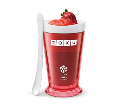 Výrobník ledové tříště Slush & Shake červený, Zoku